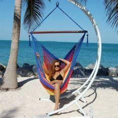 New Relaxing Jumbo Hammock Chair Hammock Swing Choose from 10 Colors   eBay