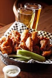 Image result for pictures of chicken wings and beer