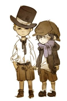 And the real story of the consulting detective and his faithful blogger friend was all an imagination of the 10 year old John, whose reality at the orphanage was too hard for him to bear, and even harder to share with the 7 year old Sherlock. John was too old and Sherlock was too sick and neither would ever be adopted. Instead, John made up a game to solve the mysteries of their missing friends, who seemed to disappear ... <---- O.o