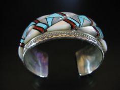 Vintage Zuni Raised Inlay Bracelet