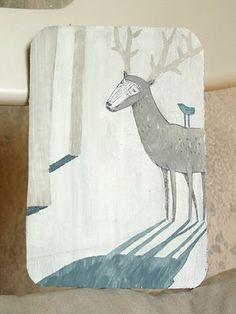 Forest shadows drawing by Irina Troitskaya