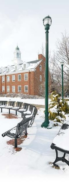 Transylvania University's beautiful campus.  Haupt Plaza and Haupt Humanities in the winter