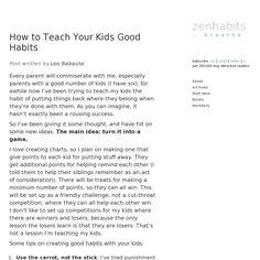 How to Teach Your Kids Good Habits (zenhabits.net)