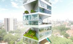 Writhing Tower – a new kind of Sky Condo