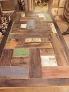 Dining room table made from recycled apple cider barrel. More pictures to come soon.  http://overgrownindustries.com/home/