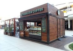 shipping container cafe at DuckDuckGo Small Coffee Shop, Coffee Store, Coffee Shop Design, Kiosk Design, Cafe Design, Cafe Restaurant, Restaurant Design, Shipping Container Cafe, Shipping Containers