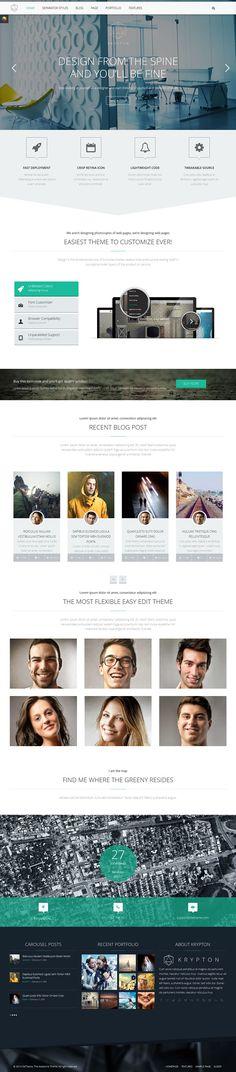 Krypton - Responsive Multipurpose Wordpress Theme #web #design