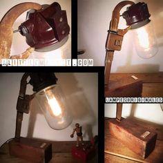 Découvrez Un globe ancien maintenu par une clef a molette  par lampesoriginales .com sur alittleMarket