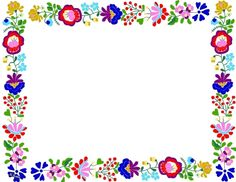 oldal (sk is) Polish Embroidery, Picture Borders, Shade Card, Boarders And Frames, Printable Frames, Doodle Frames, School Frame, Kids Labels, Borders For Paper