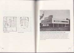 Plans and photograph of the Villa Savoye, from the book, The International Style: Architecture Since 1922, by Henry-Russell Hitchcock and Philip Johnson, 1932