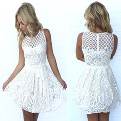 2734bdc208c Taking Shape Lace Babydoll Dress