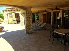 Tuscan Style 4,579 Sq Ft, 4 Bdrm, 7 Bath Lakefront Home - Rear Patio