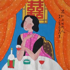 Original painting morden art abstract painting chinese by art68