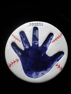 Baseball Handprint .