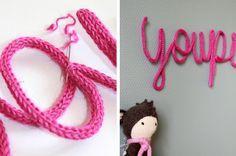 comment faire des lettres ou formes en tricotin ! #tuto #diy