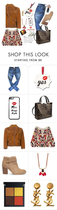 """""""#SNAPMADE"""" by kaylee-2010 ❤ liked on Polyvore featuring Current/Elliott, Ann Creek, Dsquared2, Alice + Olivia, Sole Society, Marni and Yves Saint Laurent"""