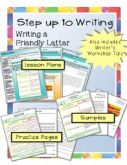 Step up to Writing - Writing a Friendly Letter - This is one of my top-sellers!  Don't miss out on this giveaway.  5 lucky winners will be chosen.This Step up to Writing bundle is used for assisting students with using the Step up to Writing method to write a friendly letter. Bundle includes:- Lesson Plans- Teacher Tips- Samples- Graphic organizer planning sheet as a class- Graphic organizer planning sheet independently- Writing page for rough draft- Writing page for final draft.  A GIVEAWAY promotion for Step up to Writing Bundle - Writing a Friendly Letter from The Resourceful Teacher on TeachersNotebook.com (ends on 4-27-2015)
