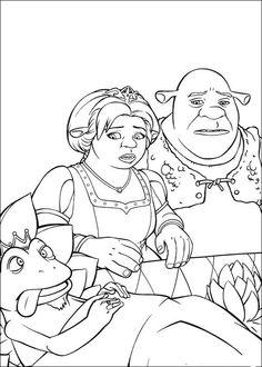 Shrek Tegninger til Farvelægning. Printbare Farvelægning for børn. Tegninger til udskriv og farve nº 19