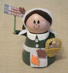 Clay Pot Pilgrim Lady