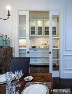 Hosting Thanksgiving? This butler's pantry makes the perfect serving station!  The Carrera 1178. #WeDesignDreams