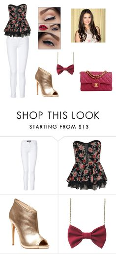 """""""Katherine Addams - Arriving"""" by mlkane ❤ liked on Polyvore featuring moda, J Brand, Boohoo, Betsey Johnson i Chanel"""
