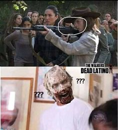 Walking Dead Jokes, The Walking Dead Poster, Carl The Walking Dead, Walking Dead Cast, Walking Dead Zombies, Twd Memes, Memes Humor, Dead Pictures, Funny Pictures