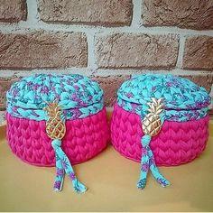 """Gefällt 96 Mal, 1 Kommentare - @applewhitecrochet auf Instagram: """"@katrin_basket #creative #knitting #knittersofinstagram #childrensdecor #cottonyarn #cotton…"""""""