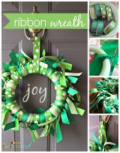 This easy tutorial will show you how to DIY your way to a homemade Ribbon Wreath!  This craft will take you less than one hour!