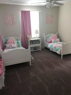 Take a look at this amazing girls room diy - what an inventive project Kids Bedroom Decor, Pink Bedroom Design, Shared Girls Room, Toddler Bedrooms, Bedroom Design, Kids Shared Bedroom