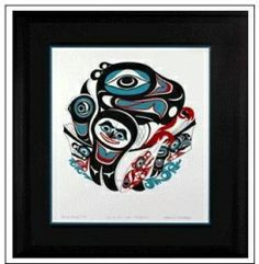 """Going to the Potlatch,"" by Israel Shotridge Signed, limited edition serigraph by Israel Shotridge.  Israel was born and raised in Ketchikan, Alaska. He is a member of the Bear Clan, also known as the Teikweidi people and of the Tlingit tribe.  Dimensions - Length: 18in. Height: 21in. Ketchikan Alaska, Tlingit, Mandala Art, North West, Israel, Nativity, North America, Coast, Bear"