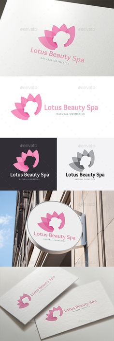 Lotus Beauty Spa Logo Template Vector EPS, AI. Download here: http://graphicriver.net/item/lotus-beauty-spa/14072742?ref=ksioks