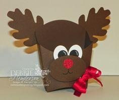 Control Freaks November Blog Hop! Stampin' Up! Fry Box Die Punch Art Reindeer. Debbie Henderson, Debbie's Designs.