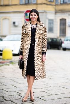 STREET STYLE leopard print coat @roressclothes closet ideas #women fashion outfit #clothing style apparel