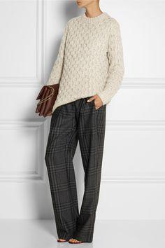 Adam Lippes Plaid wool and cashmere-blend wide-leg pants NET-A-PORTER.COM, $750