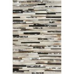 Hand-crafted White/Black Leather Animal Hide Trailblazer Rug (8' x 10')   Overstock.com Shopping - Great Deals on 7x9 - 10x14 Rugs