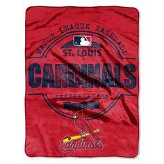 St. Louis Cardinals MLB Micro Raschel Blanket (Structure Series) (45in x 60in)