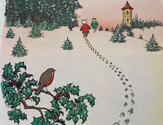 Alfred Bestall's drawing of Rupert Bear in the snow Christmas Story Books, Christmas Past, Christmas Themes, Vintage Christmas, Christmas Presents, Advent Images, Fantasy Town, Pretty Drawings, Bear Pictures