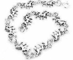 """Small Sterling Silver 7"""" Unicorn Fantasy Cham Bracelet Silver Insanity. $29.98. Spring Ring Clasp; Marked .925; Weight is 5.4 Grams; 6.75"""" Long and 1/4"""" Wide"""