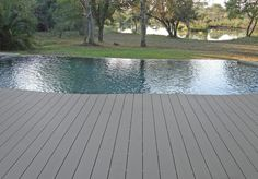 Eva-tech pool deck Tech Deck, Game Lodge, Pool Waterfall, Timber Deck, Last Game, Composite Decking, Pool Decks, Perfect Place, Over The Years