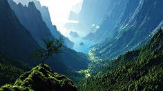 Mountain Valley Cove Wallpaper