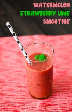 Watermelon, Smoothie and Strawberries on Pinterest