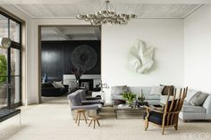 Luxuriate in the Living Room. Southampton Beach House. Interior Design: Haynes Roberts.