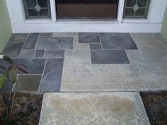 Chalk lines and random tile pattern, hand painted slate, will be doing this.