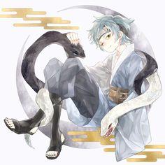 Mitsuki and snake summons Naruto Uzumaki, Anime Naruto, Naruto Gaiden, 5 Anime, Naruto Art, Anime Boys, Wallpaper Memes, Yamanaka Inojin, Naruto Team 7