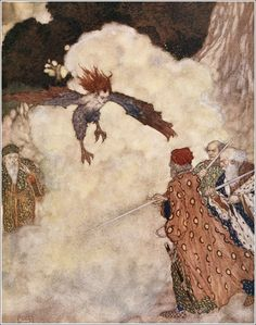 u - Shakespeare- Comedy of The Tempest- Illustrations by Edmond Dulac