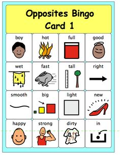 Kids need to make associations and connections or they won& learn new vocabulary. Language Activities, Therapy Activities, Kindergarten Activities, Learning Activities, Teaching Ideas, Opposites Game, Opposites Preschool, Speech Language Pathology, Speech And Language