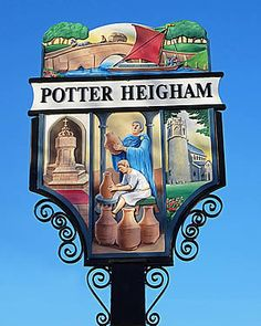 Find out what to SEE and DO in the Norfolk Broads village of Potter Heigham. FREE online guided tour includes the boating centre, the church and the riverbank. Pub Signs, Shop Signs, Norfolk Broads, English Village, Shop Fronts, Signage Design, Advertising Signs, Chalkboards, Tour Guide