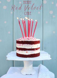 Pretty Red Velvet Birthday Cake