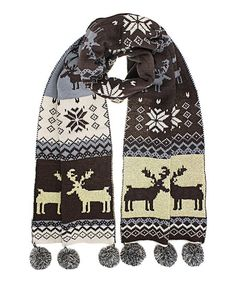 Look what I found on Brown & Cream Pom-Pom Holiday Scarf Style Me, Cool Style, Winter Headbands, Mori Girl, Refashion, Alexander Mcqueen Scarf, Purses And Bags, Couture, Brown