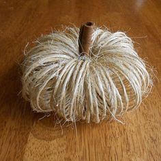 Easy Twine Fall Pumpkins - this idea is cute, easy to do and CHEAP! Gotta love it